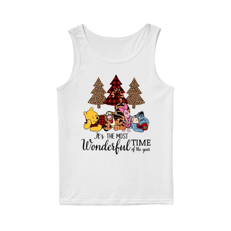 Official Winnie The Pooh It's The Most Wonderful Time Of The Year Tank Top