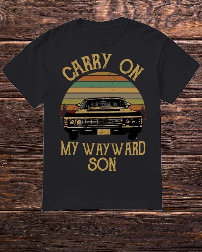 Sunset Carry On My Wayward Son Shirt