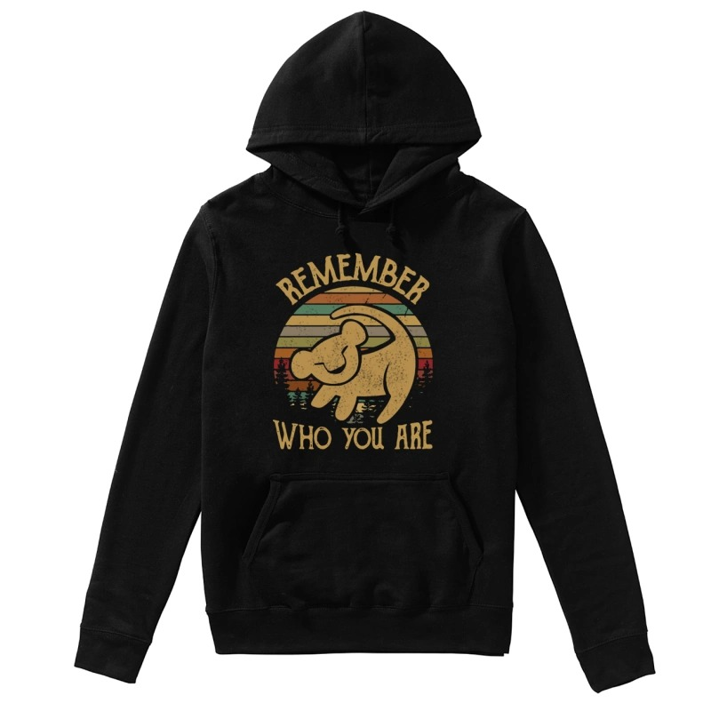 Sunset Disney Lion King Remember Who You Are Hoodie
