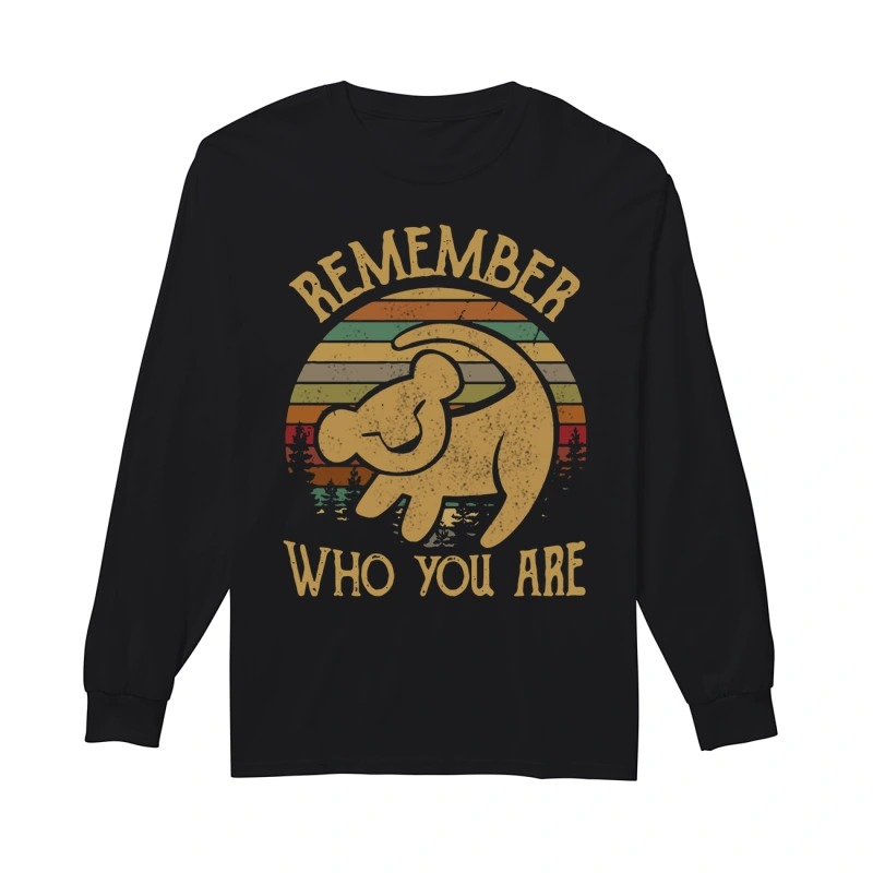 Sunset Disney Lion King Remember Who You Are Longsleeve Tee