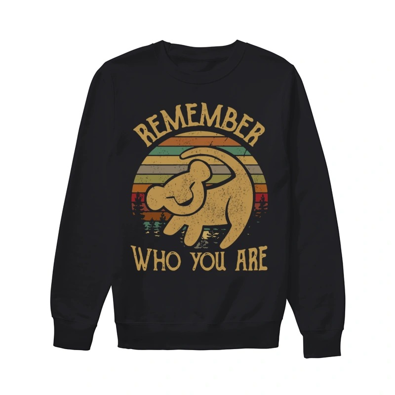 Sunset Disney Lion King Remember Who You Are Sweater