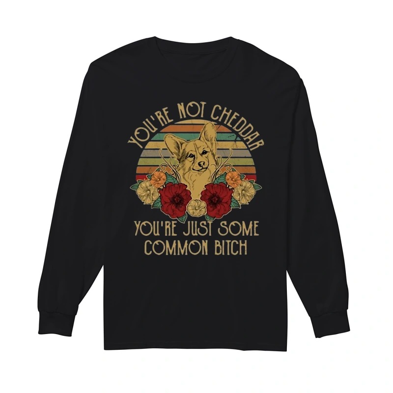 Sunset Fox You're Not Cheddar You're Just Some Common Bitch Longsleeve Tee