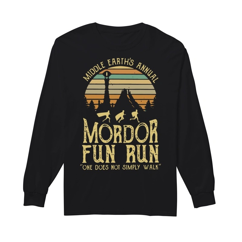 Sunset Middle Earth's Annual Mordor Fun Run One Does Not Simply Walk Longsleeve Tee