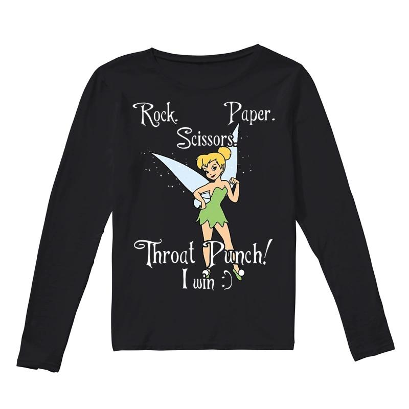 Tink Rock Paper Throat Punch I Win Longsleeve Tee