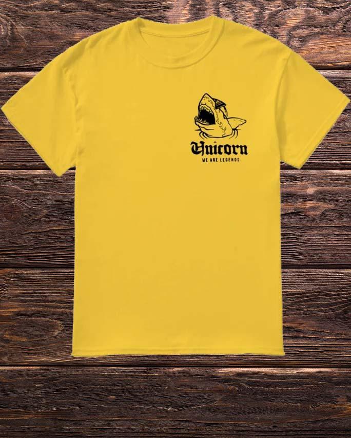 Vod Kirl Skull Be A Shark We Are Legends Shirt
