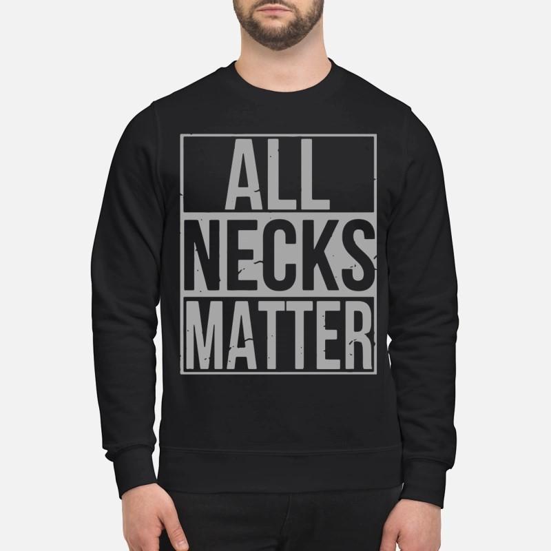 Wide Neck All Necks Matter Sweater