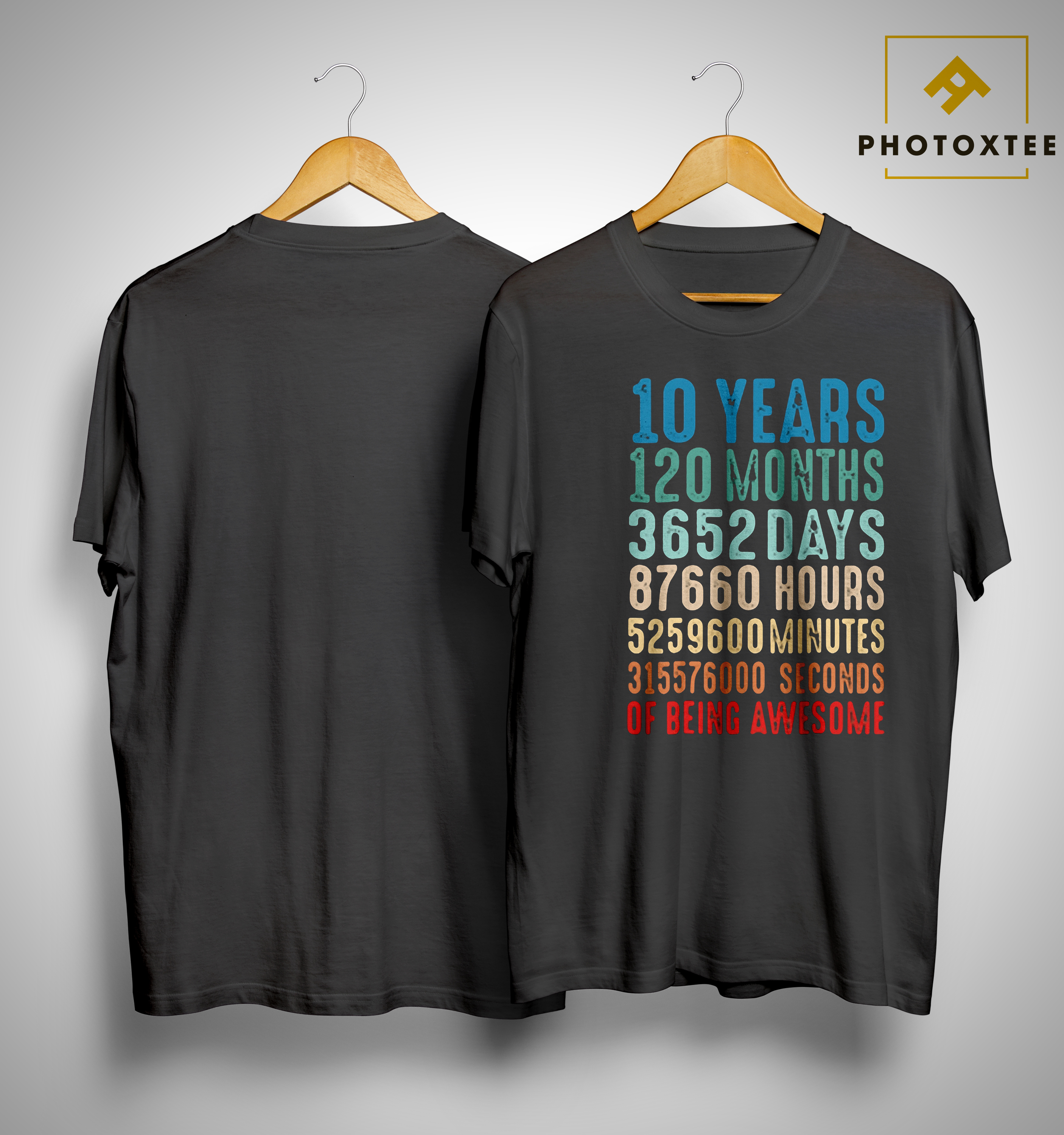 10 Years Old 10th Birthday Vintage Retro T Shirt