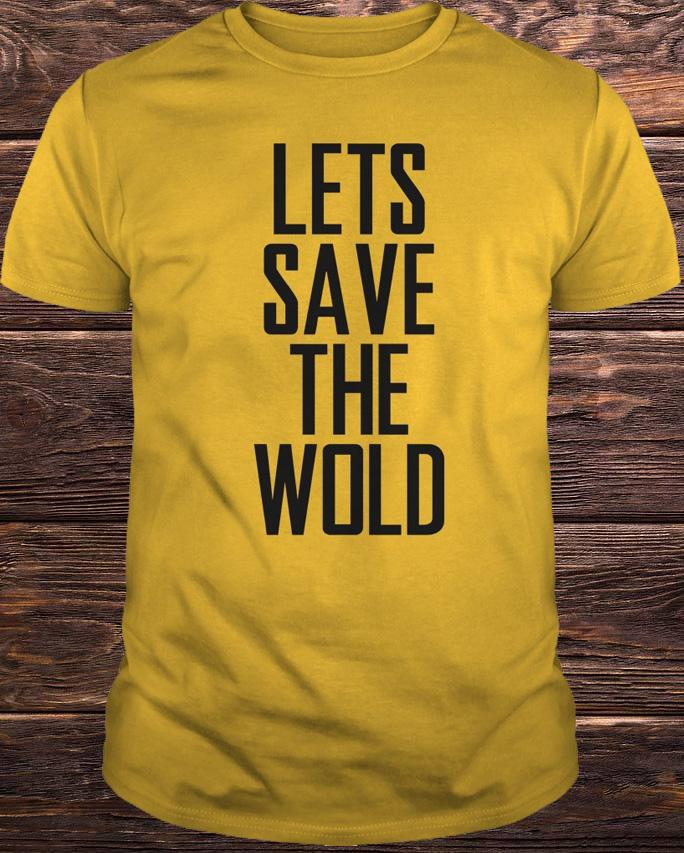 Annie Lennox Lets Save The World Shirt