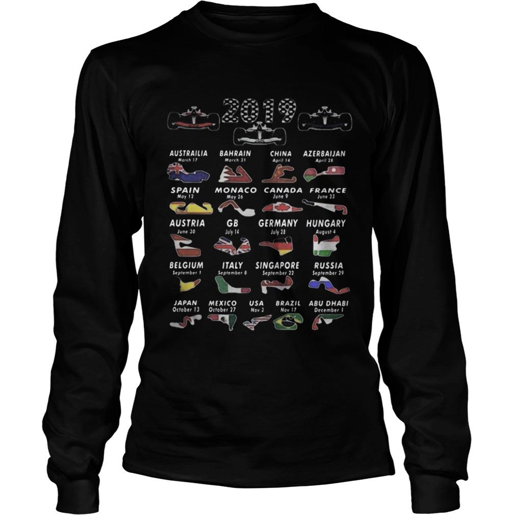 Calendar F1 2019 Circuits Sport Longsleeve Tee