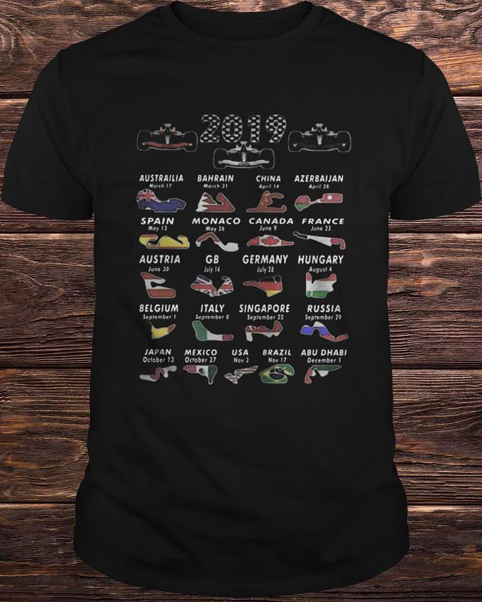 Calendar F1 2019 Circuits Sport Shirt