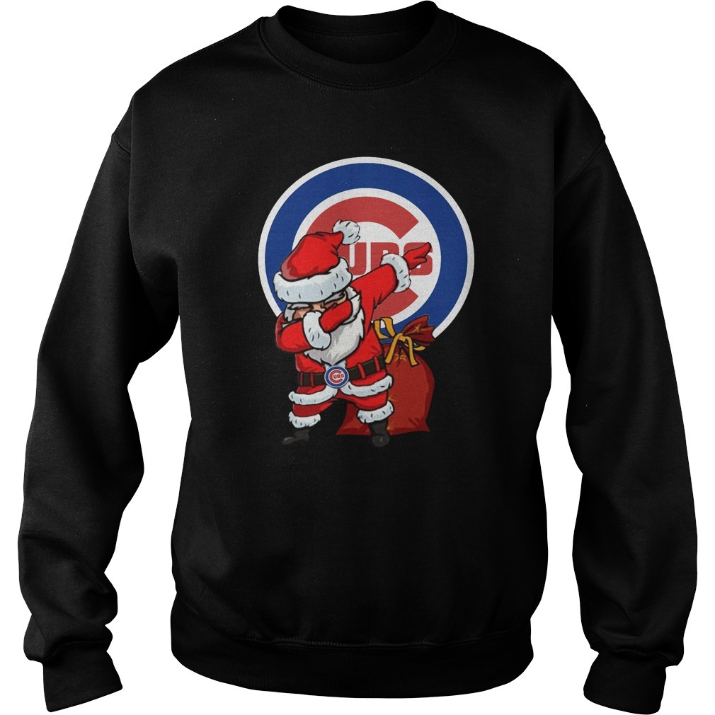Chicago Cubs Santa Dabbing Christmas Sweater