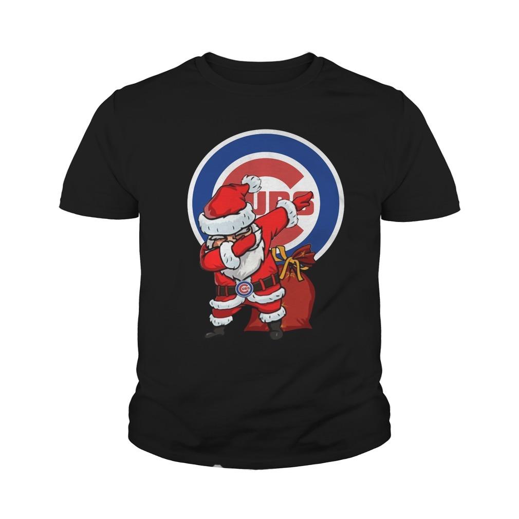 Chicago Cubs Santa Dabbing Christmas Youth Tee