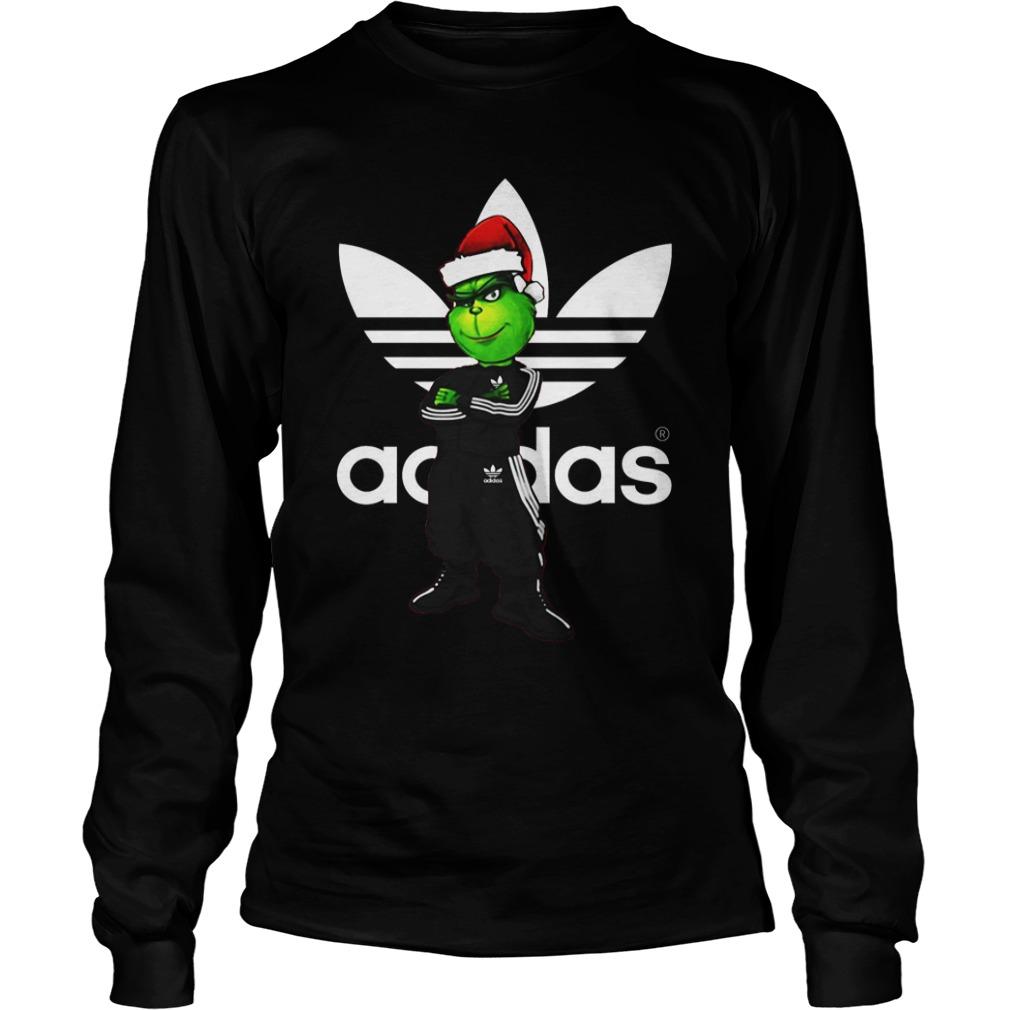Christmas Santa Grinch Adidas Longsleeve Tee