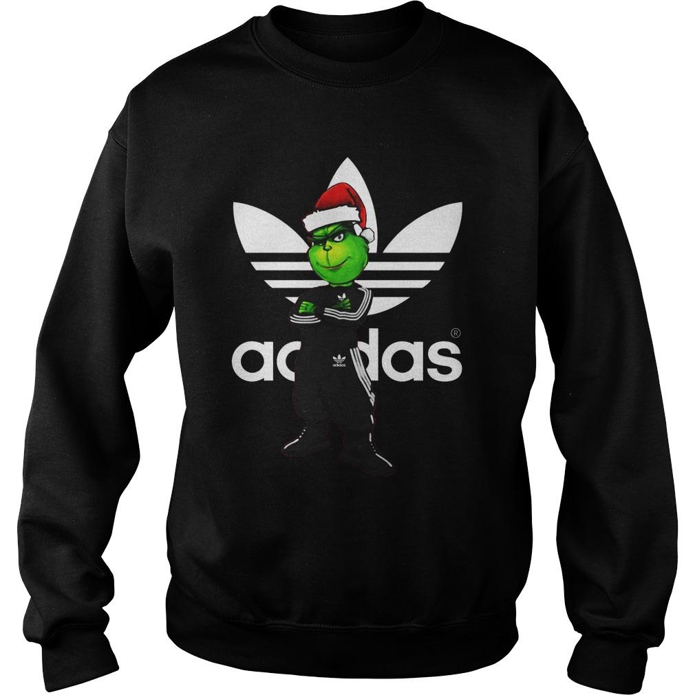 Christmas Santa Grinch Adidas Sweater