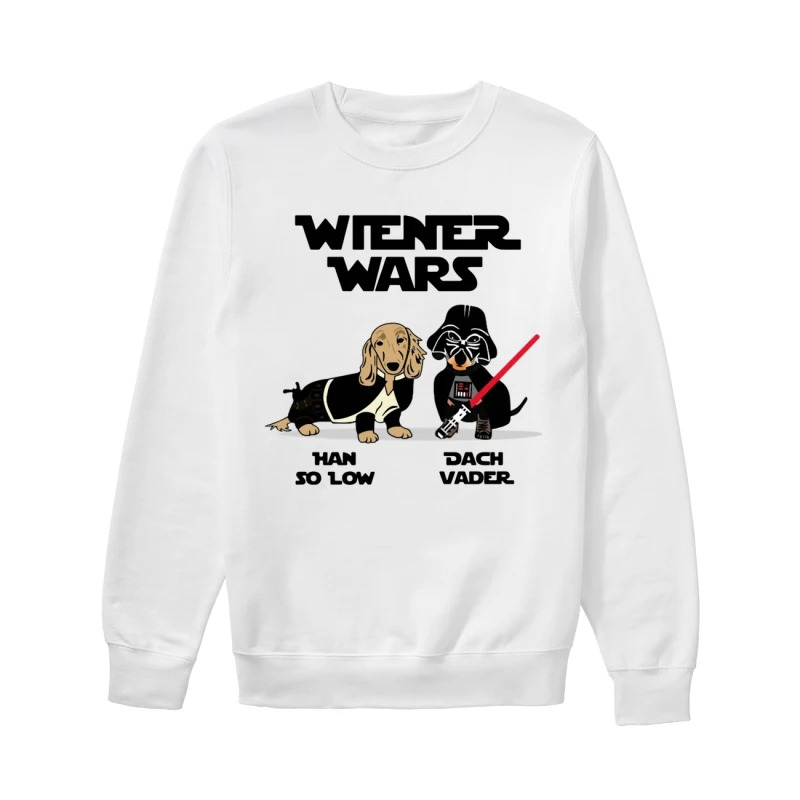 Dachshund Wiener Wars Han So Low Dach Vader Sweater