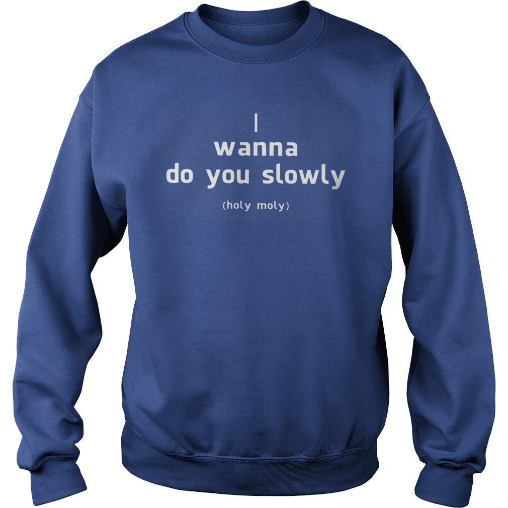 I Wanna Do You Slowly Holy Moly Sweater