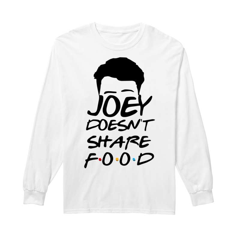 Joey Doesn't Share Food Funny How You Doin Black Longsleeve Tee