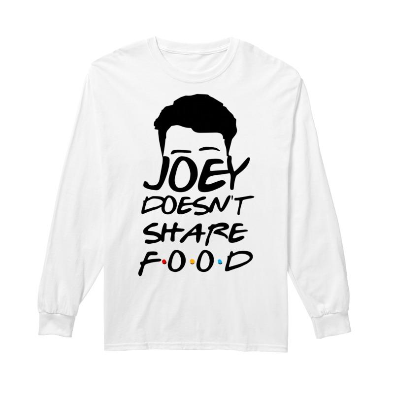 Joey Doesn't Share Food Funny How You Doin Black Longsleeve Tee