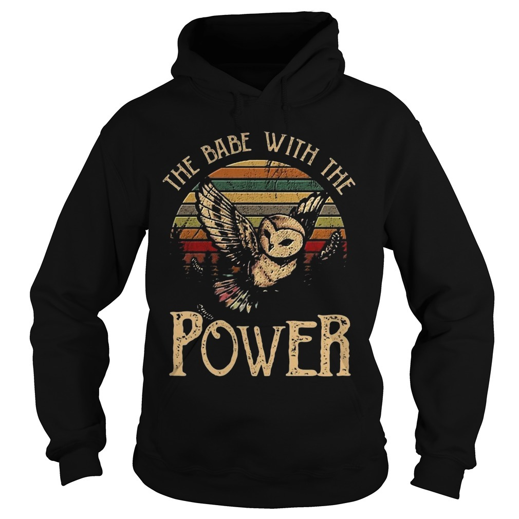 Sunset Special Owl The Babe With The Power Hoodie