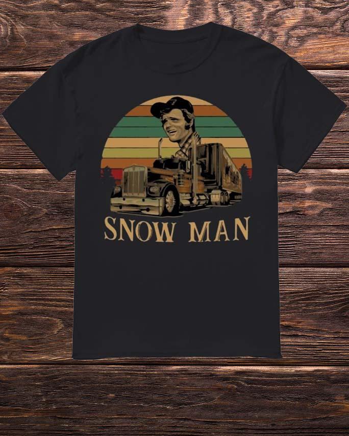 Sunset Smokey Snowman Shirt