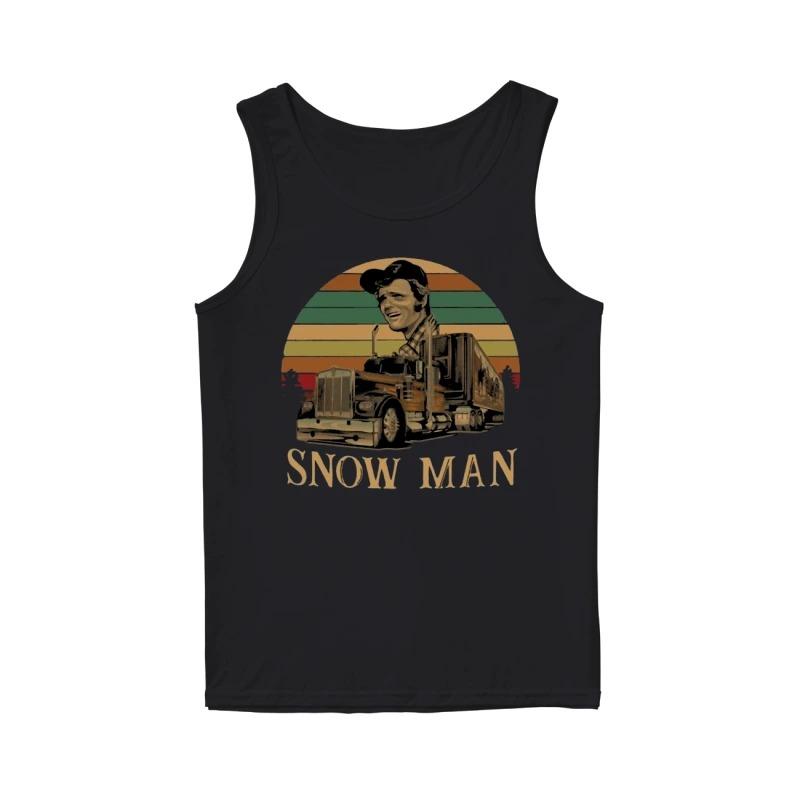 Sunset Smokey Snowman Hoodie