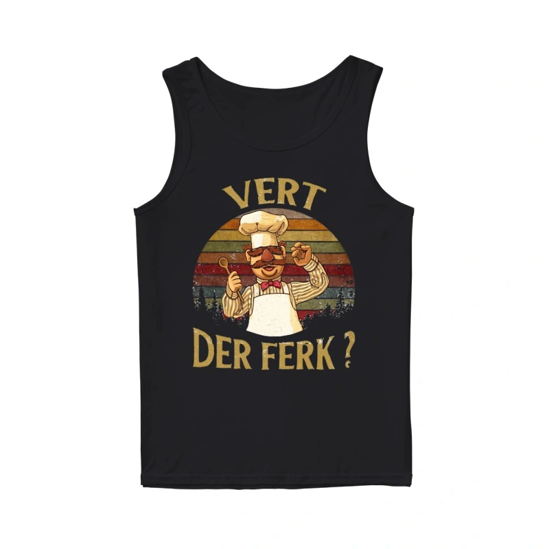 Sunset Swedish Chef Vert Der Ferk Tank Top