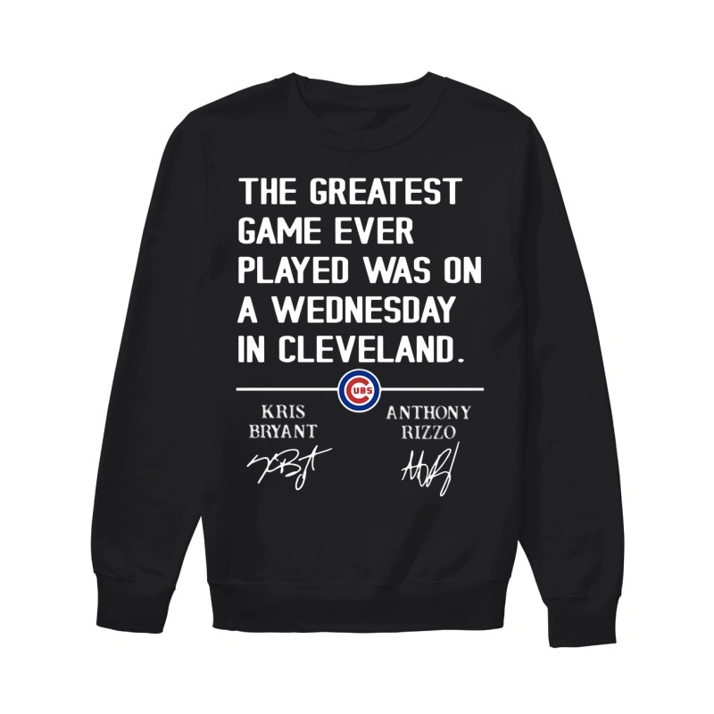 The Greatest Game Ever Played Was On A Wednesday In Cleveland Sweater