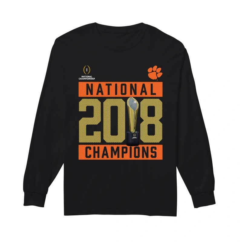Clemson Tigers National 2018 Champions Pitch Longsleeve Tee
