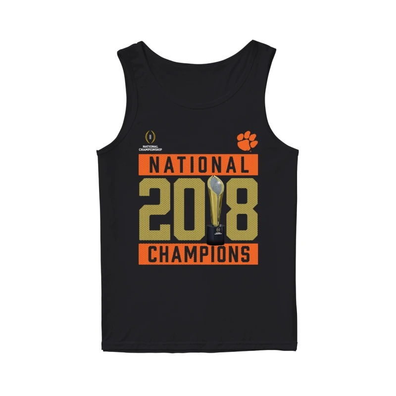 Clemson Tigers National 2018 Champions Pitch Tank Top