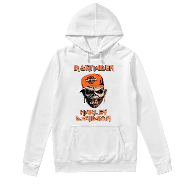 Skull Iron Maiden Harley Davidson Hoodie