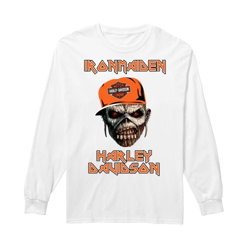 Skull Iron Maiden Harley Davidson Longsleeve Tee