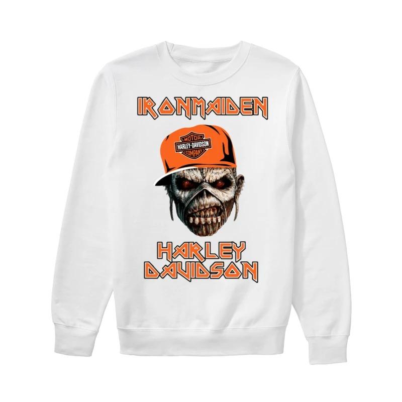 Skull Iron Maiden Harley Davidson Sweater