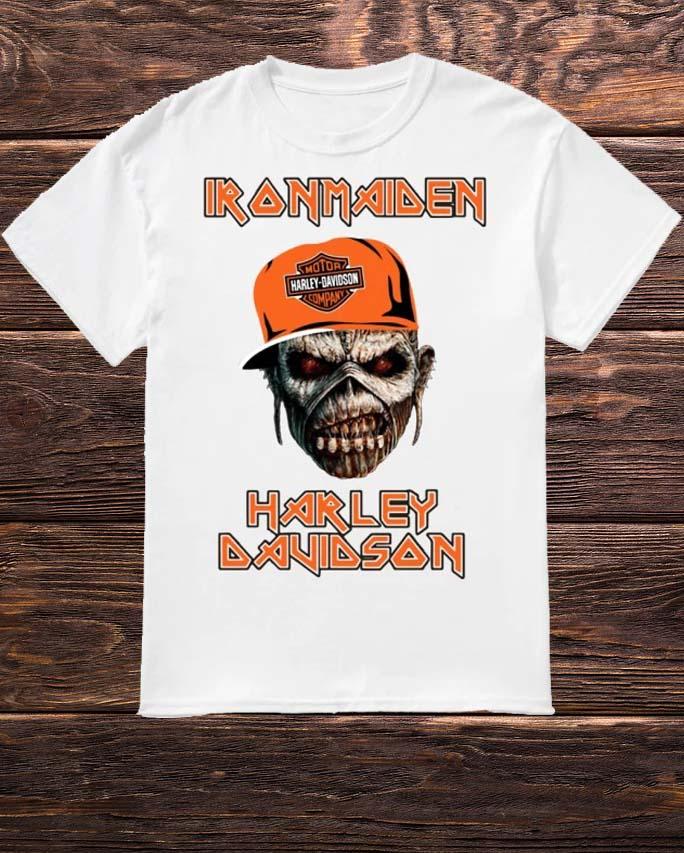Skull Iron Maiden Harley Davidson Shirt