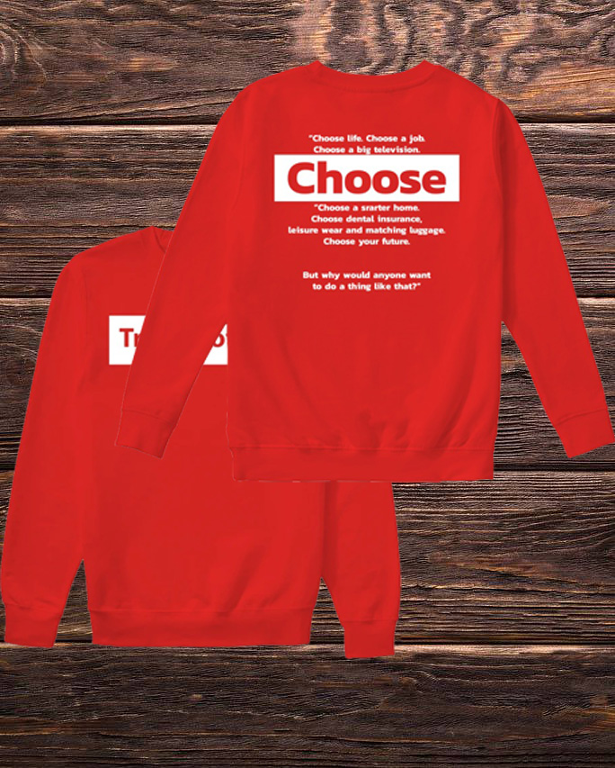 Trainspotting Choose Life Choose A Job Choose A Big Television Sweater