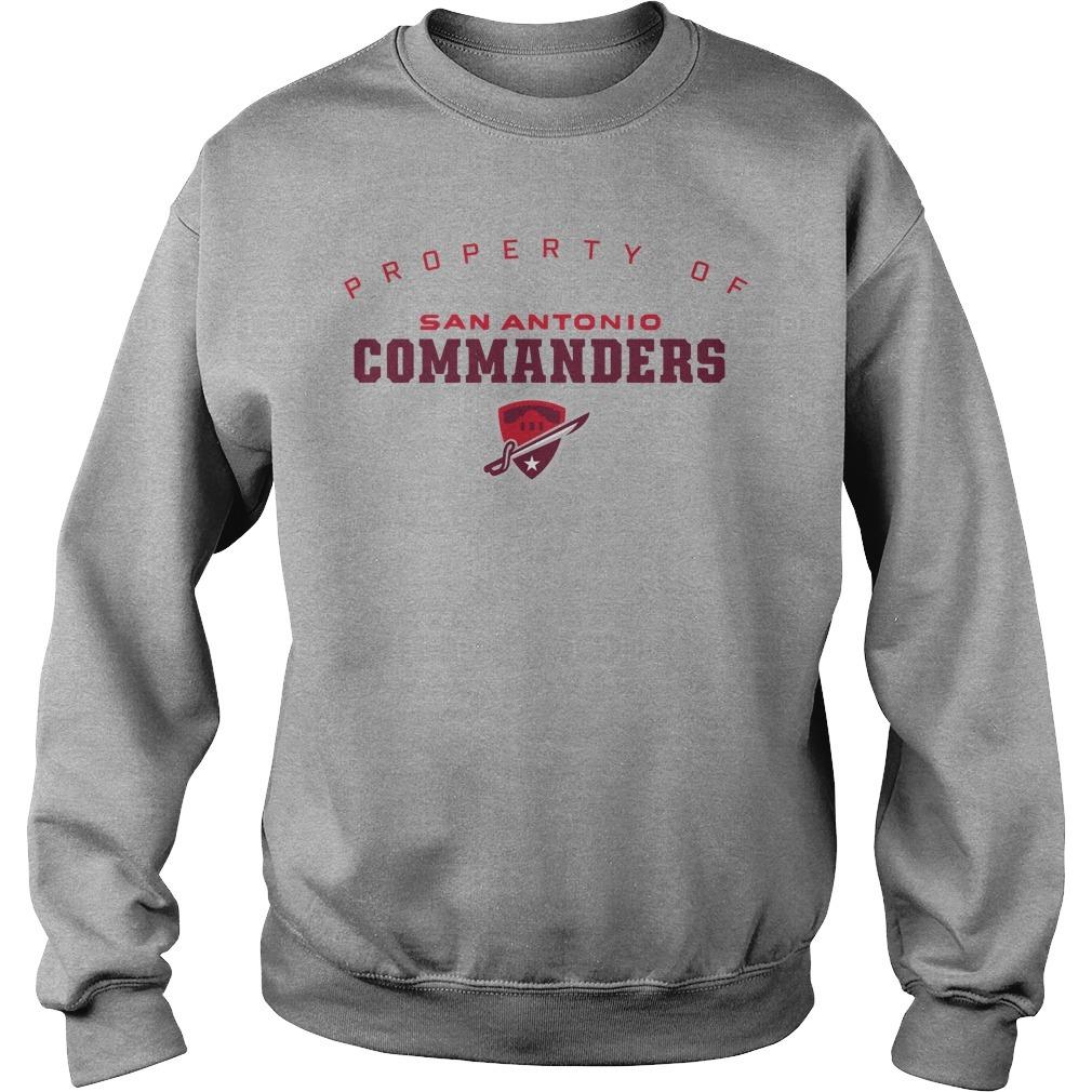 Property Of San Antonio Commanders Sweater
