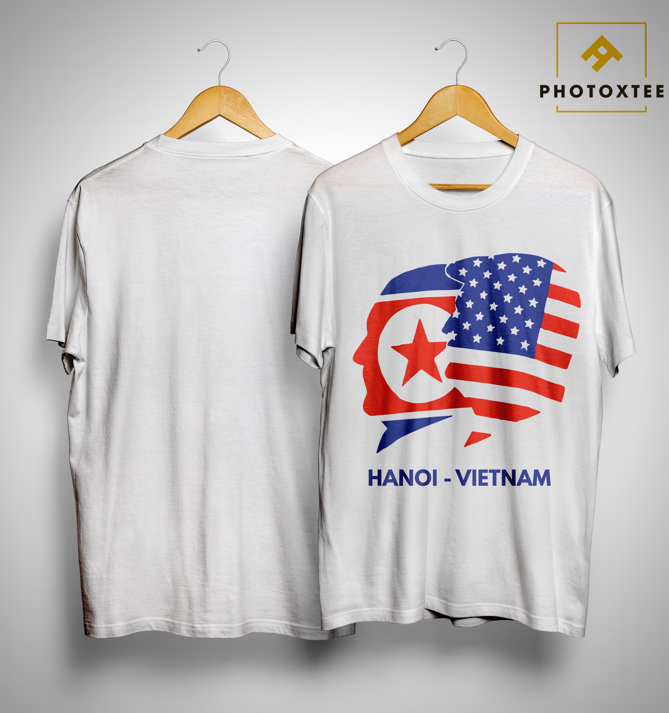 69206b8dae3 Trump Kim Summit American Flag Hanoi Vietnam Shirt