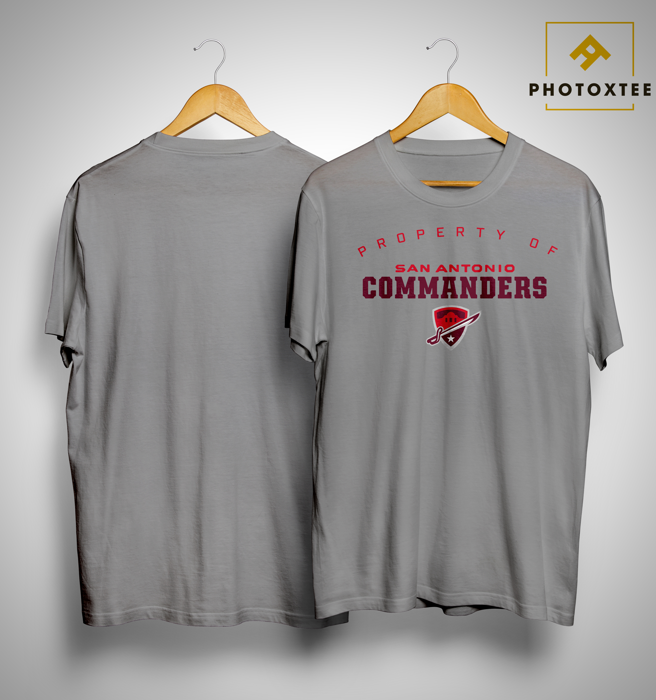 Property Of San Antonio Commanders Shirt