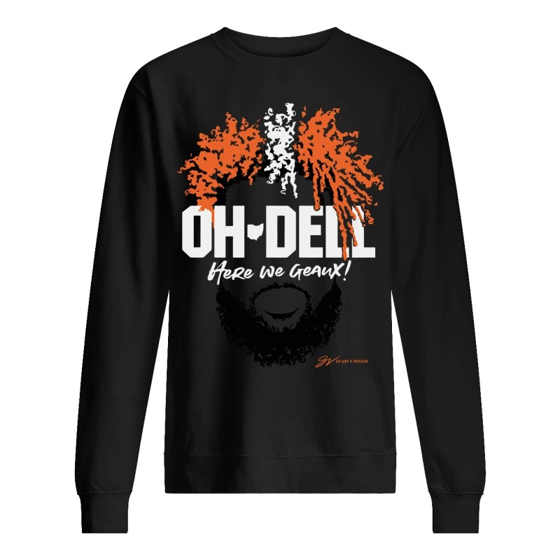 Cleveland Brown Oh Dell Here We Geaux Sweater