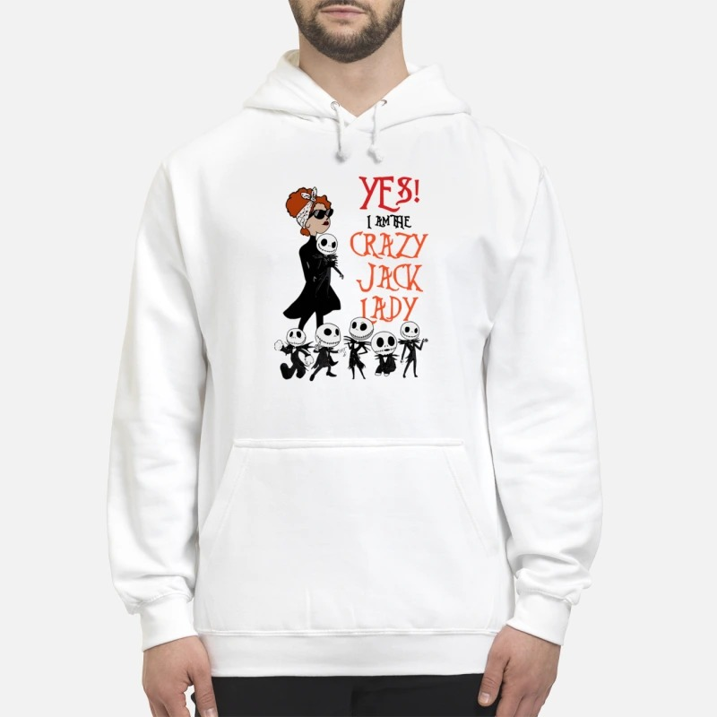Yes I Am The Crazy Jack Lady Hoodie
