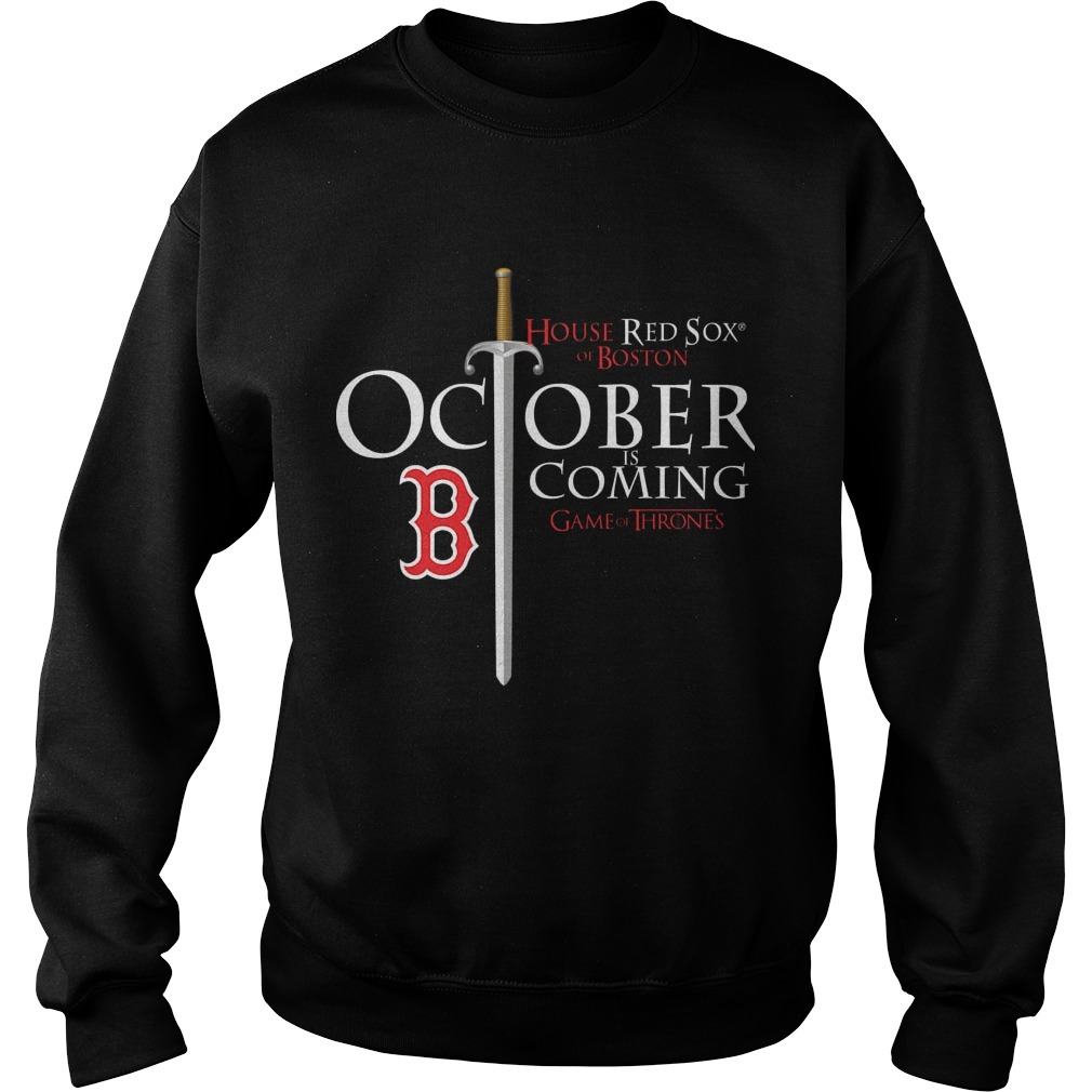 October Is Coming Red Sox Game Of Thrones Sweater