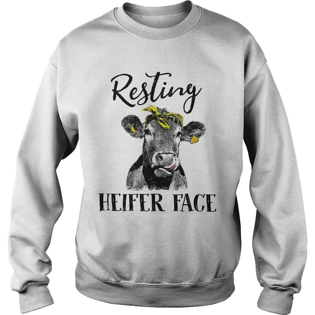 Resting Heifer Face Sweater
