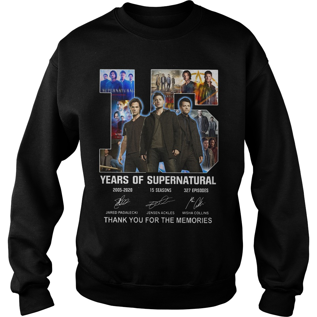 Supernatural Team 15 Years Of Supernatural Thank You For The Memories Shirt