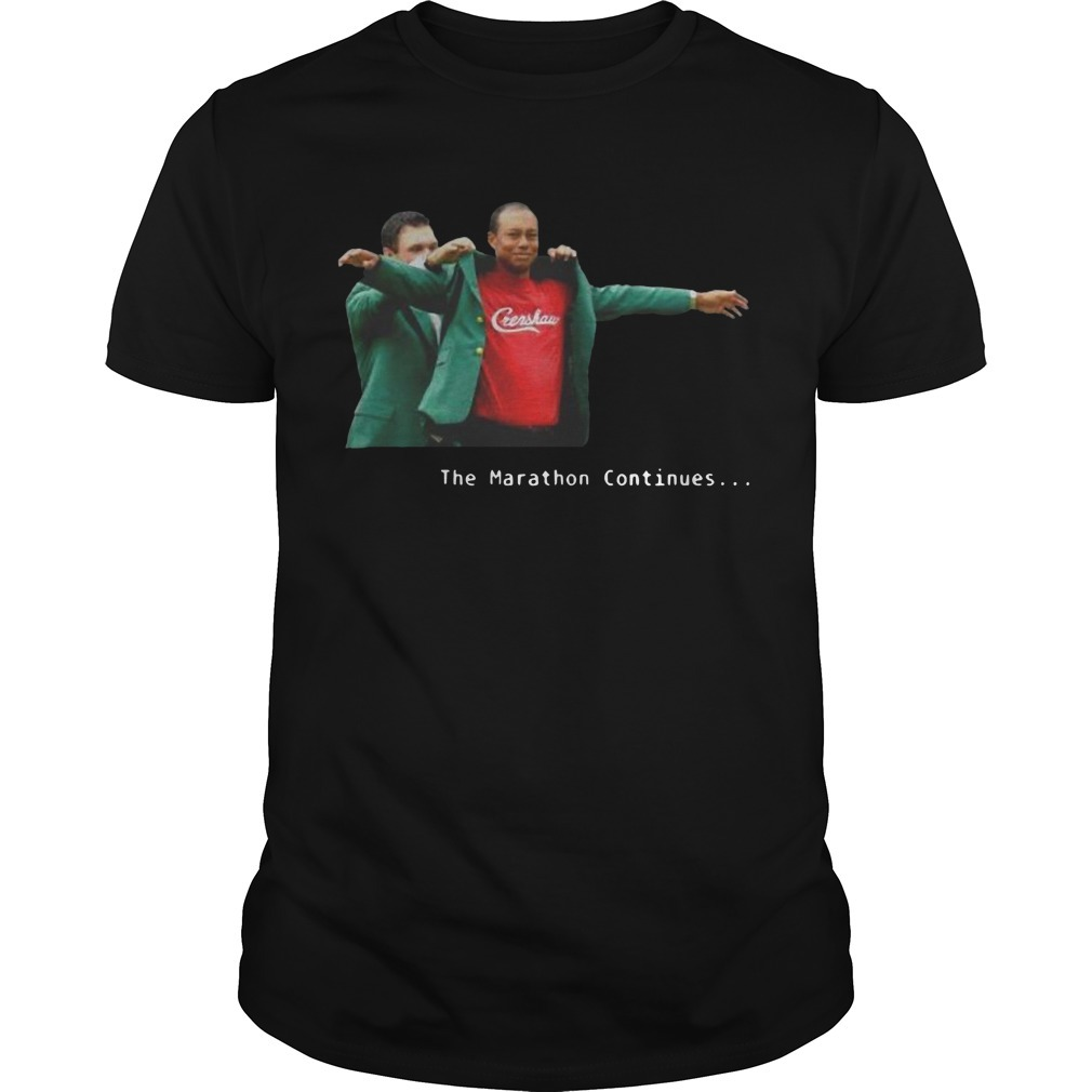 Tiger Woods Crenshaw The Marathon Continues Shirt