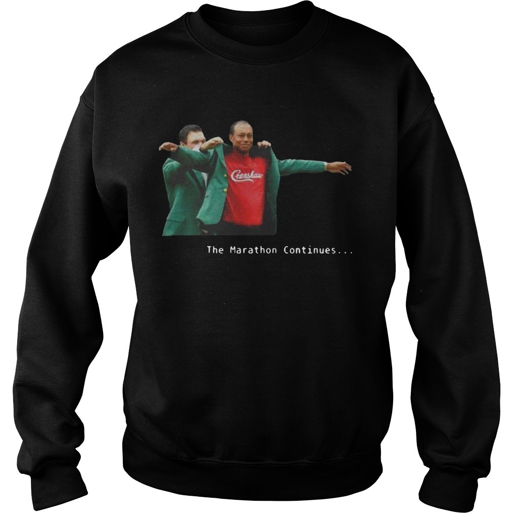 Tiger Woods Crenshaw The Marathon Continues Sweater