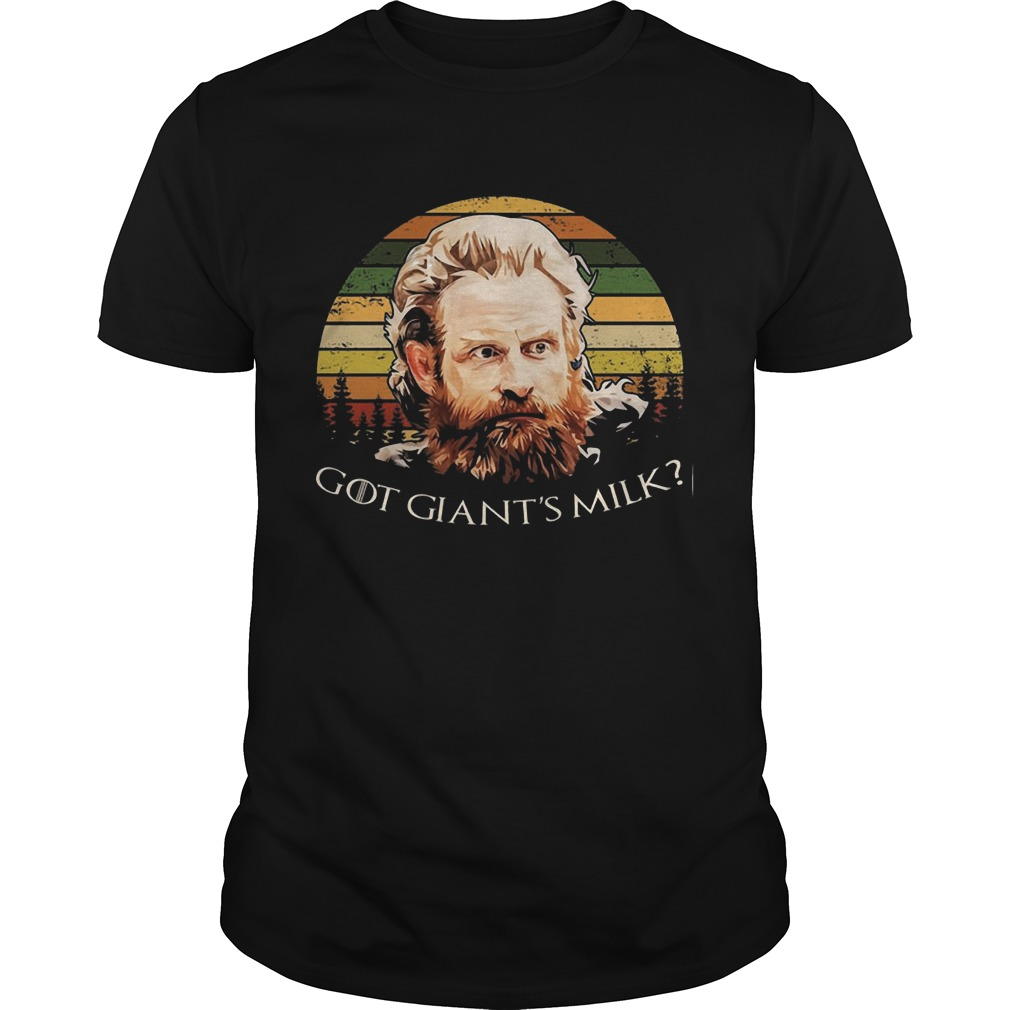 Vintage Game Of Thrones Tormund Giantsbane Got Milk Shirt