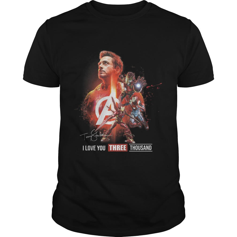 Avengers Tony Strak I Love You Three Thousand Shirt
