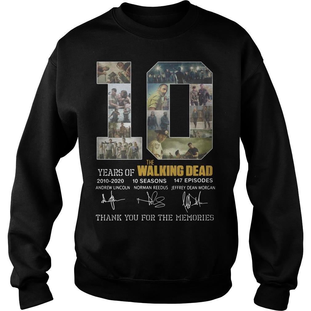 10 Years Of The Walking Dead 2010 2020 10 Seasons 147 Episodes Sweater