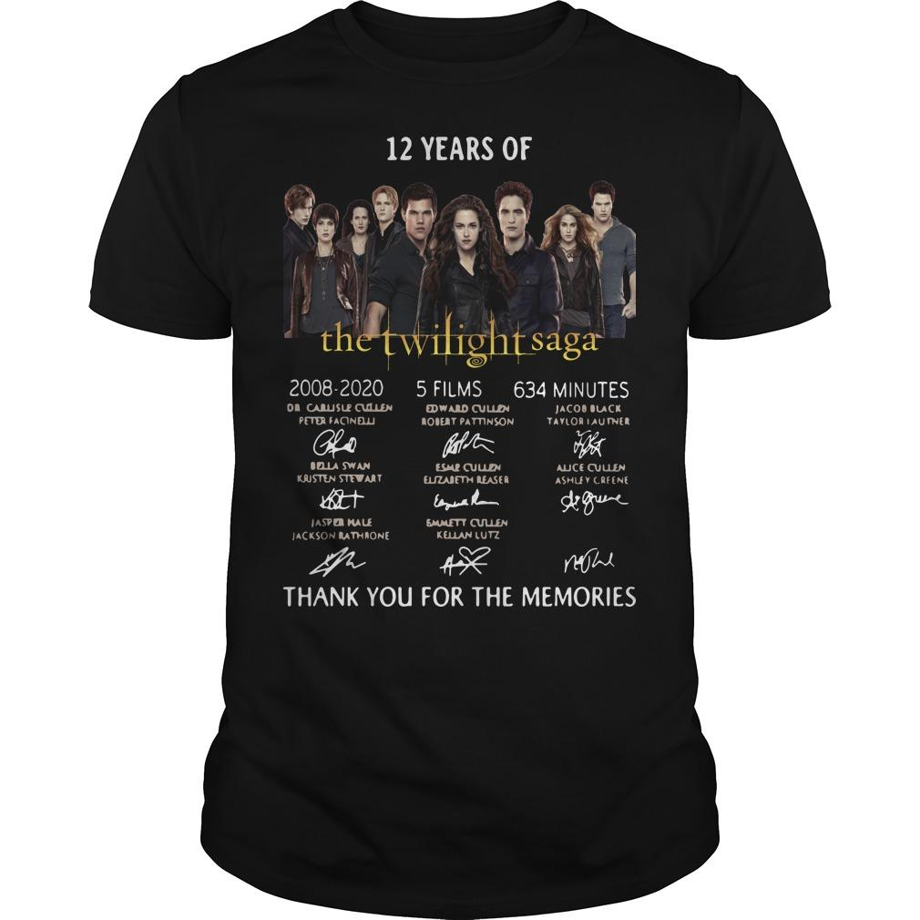 12 Years Of The Twilight Saga 2008 2020 5 Films 634 Minutes Shirt