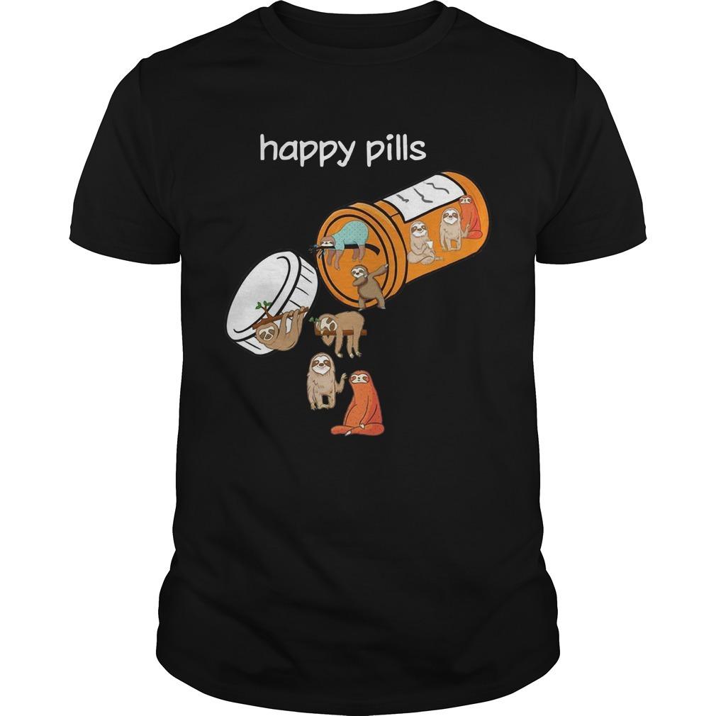 Sloths Happy Pills Shirt