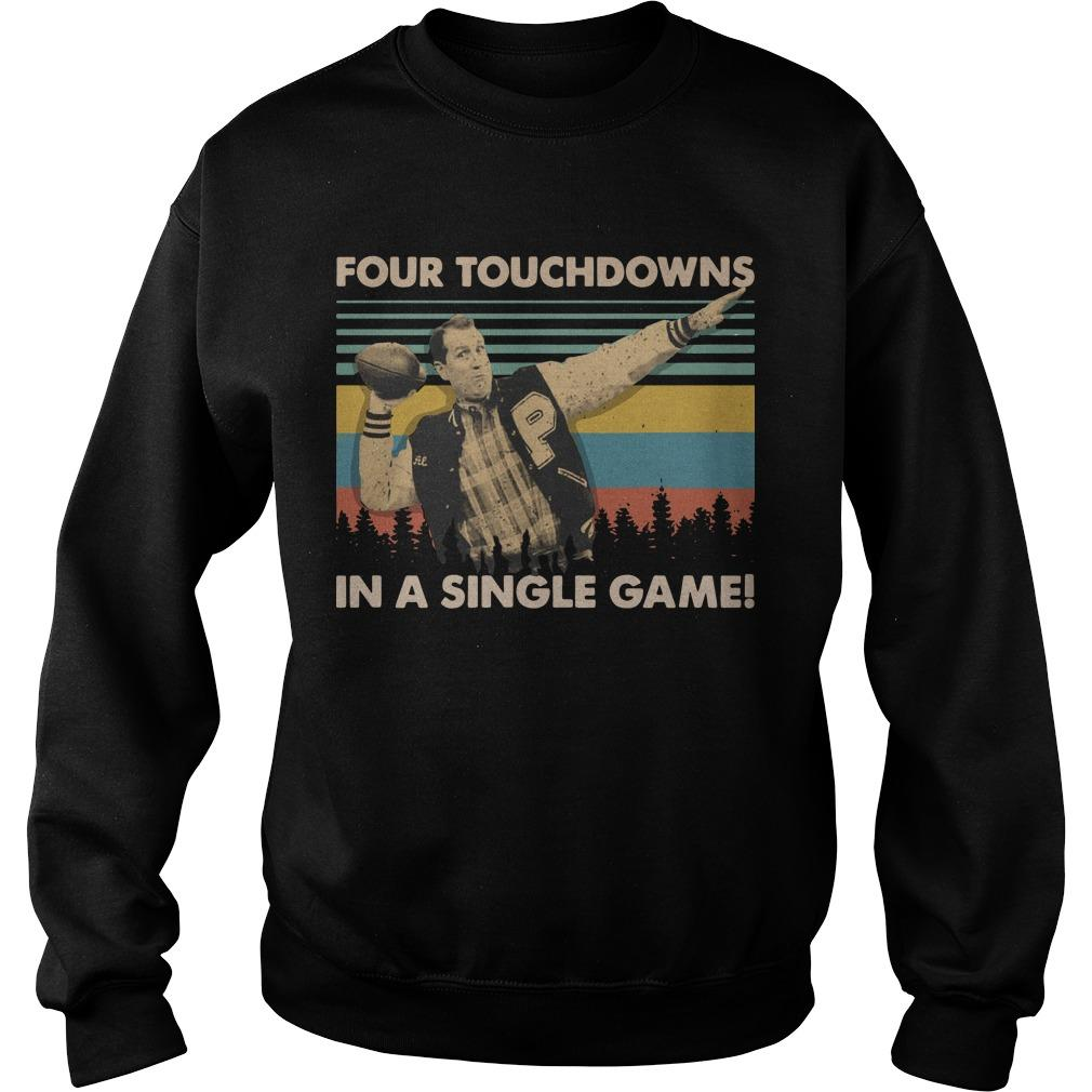 Al Bundy Vintage Four Touchdowns In A Singles Game Sweater